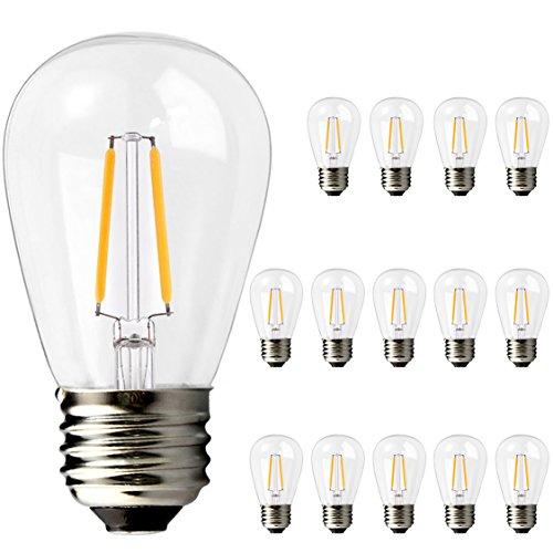 Brimax 2w Led S14 Light Bulbs E26 Medium Screw Base