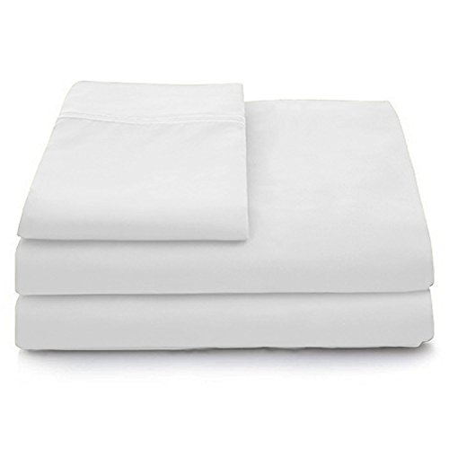 Deep Pocket Premium Bamboo Bed Sheets Full Size White